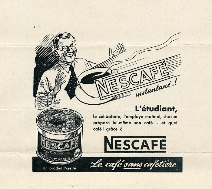 Первая упаковка знаменитого растворимого кофе NESCAFE. / Фото: moscsp.ru
