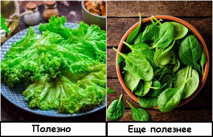 В шпинате больше витаминов и минералов
