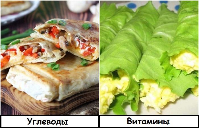 В листья салата можно завернуть почти любую начинку