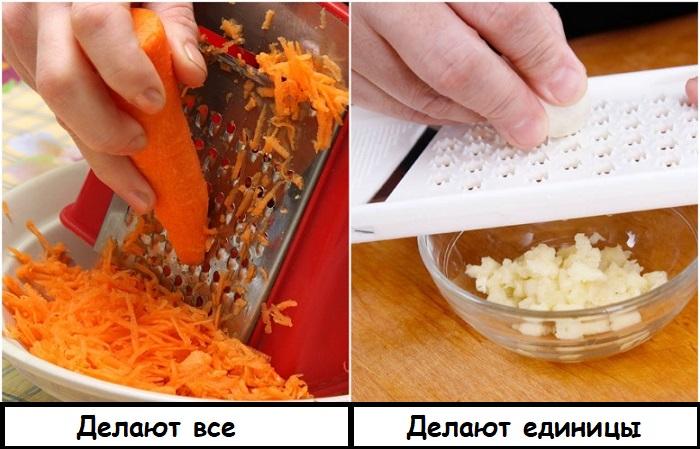 На терке можно натирать не только морковь, но и чеснок