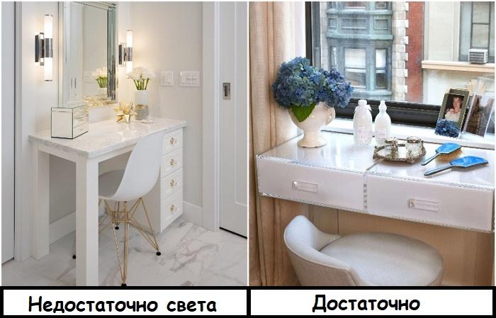 Туалетный столик должен находиться рядом с окном