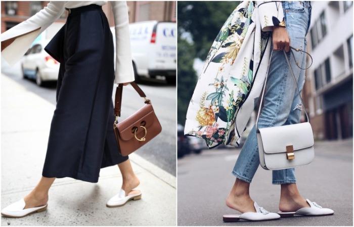 Мюли отлично сочетаются с джинсами и кюлотами