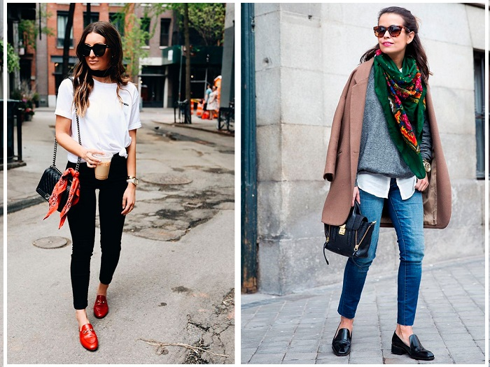Обувь можно подбирать под сумку или платок