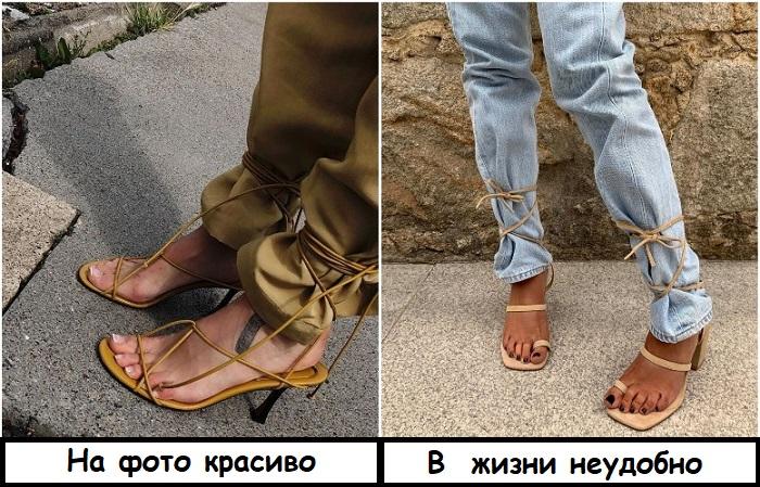 Из-за тугой шнуровки могут неметь ноги
