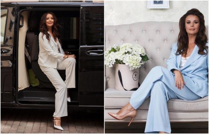 Оксана Федорова предпочитает нюдовые и двухцветные туфли