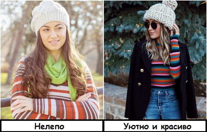 Выбирайте объемную вязаную шапку с бубоном