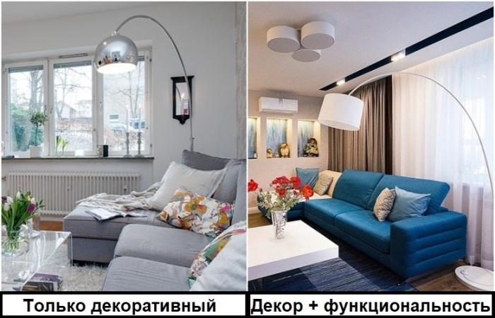 Один красивый светильник не выполнит задачу