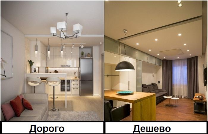 Чем больше светильников, тем дороже ремонт