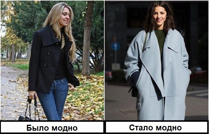 Короткое пальто уступило место длинной модели оверсайз