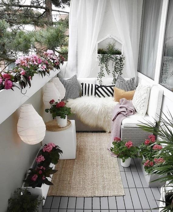 Растения сделают атмосферу уютной. / Фото: pinterest.com