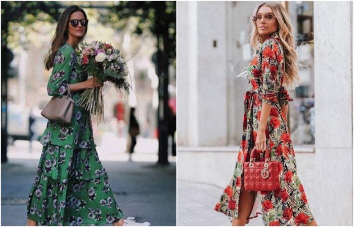 Платье длины макси смотрится женственно и романтично