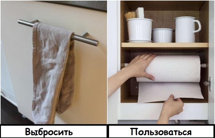 Вместо текстиля используйте для уборки бумажное полотенце