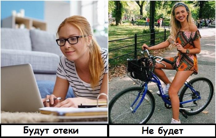 Работу за ноутбуком нужно разбавлять едой на велосипеде