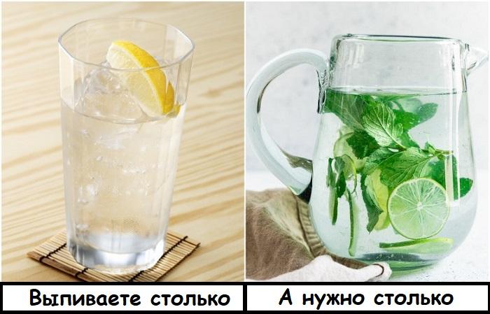 В день нужно выпивать полтора-два литра воды