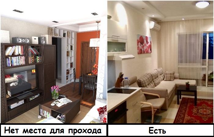 Мебель не должна занимать все свободное место
