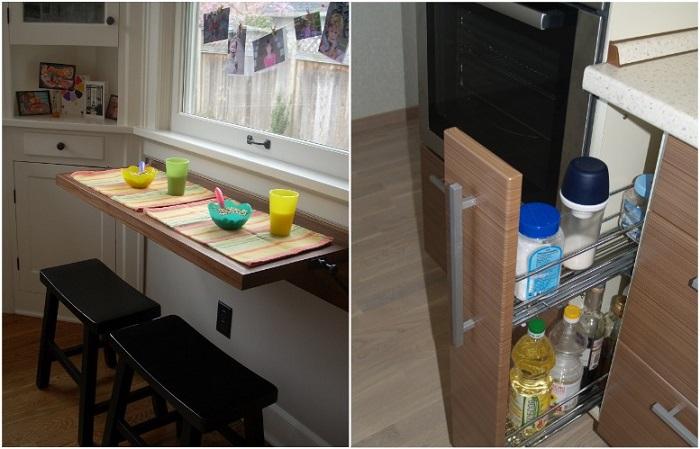 Бутылочница и складной стол - компактные, но функциональные