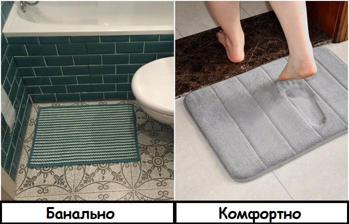 Коврик с эффектом памяти - отличное дополнение к ванной комнате
