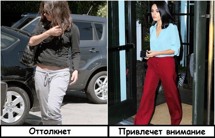 Мила Кунис в двух образах: неухоженном и стильном