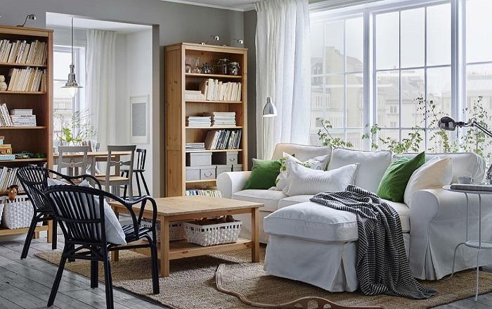 Много массивной мебели на маленькой площади. / Фото: pro-mebel-textile.ru