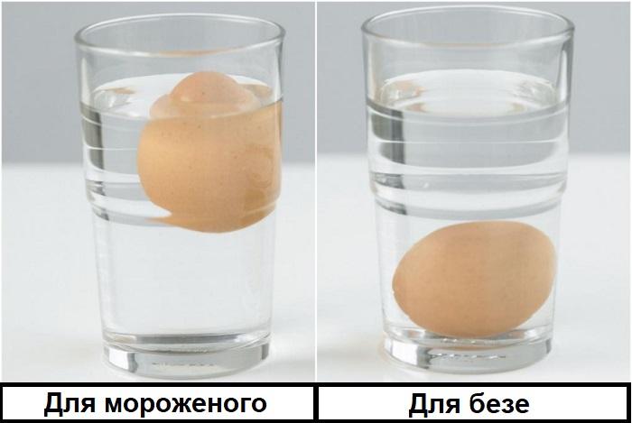Для разных десертов нужны яйца разной свежести