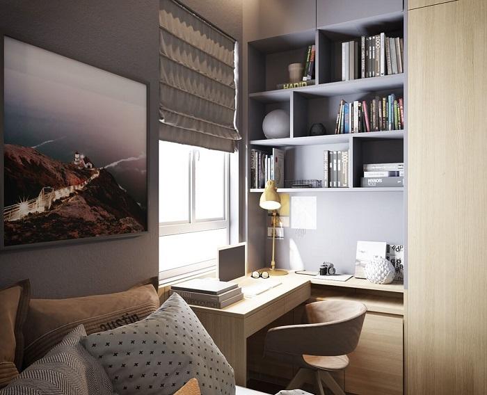 Используйте широкий подоконник в качестве стола. / Фото: remont-samomy.ru