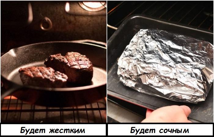 В фольге мясо сохранит свою сочность