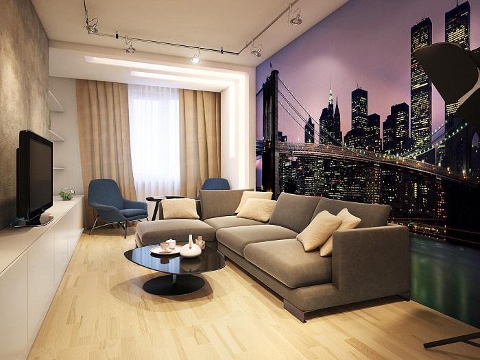 Фотообои удешевляют интерьер. / Фото: remontt.net