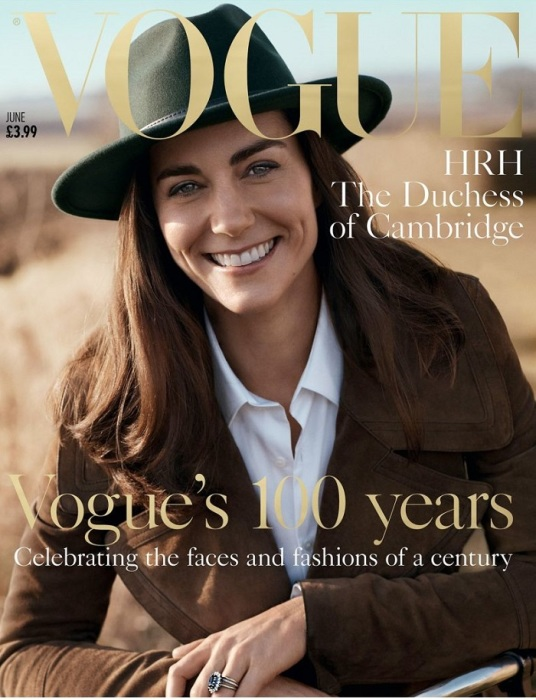Кейт Миддлтон на обложке журнала Vogue. / Фото: royal.uk