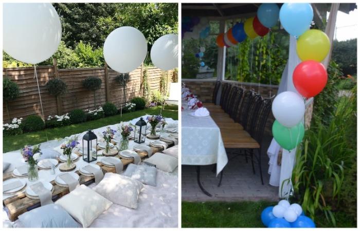 Воздушные шарики украсят стол и беседку