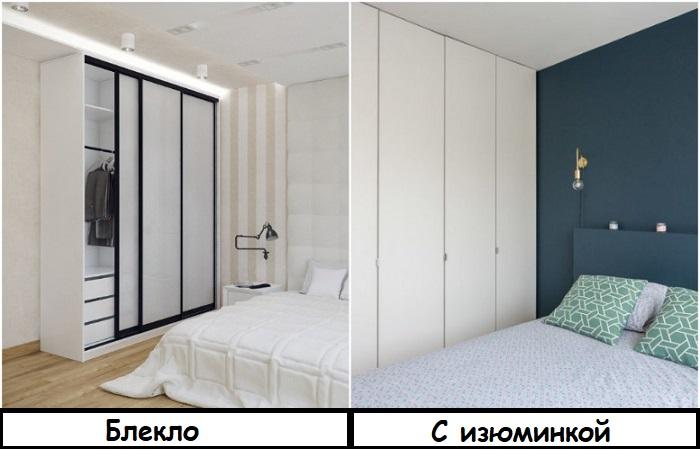 Если шкаф подбирается в тон стен, в интерьере должен быть акцент, например, стена