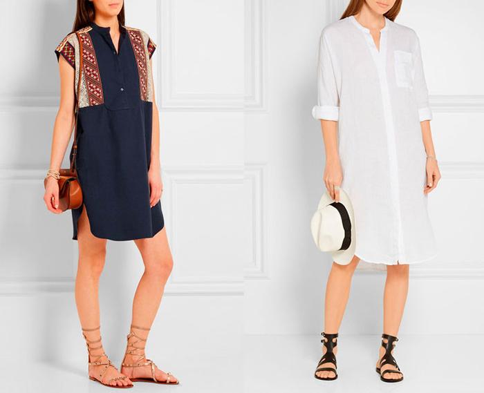 Платье-рубашка в зависимости от фасона может создать любой образ. / Фото: shoes.ua