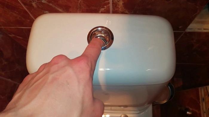 Западает кнопка слива на унитазе. / Фото: uk.uchebniksantehnika.ru