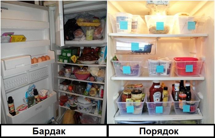 Контейнеры помогут навести порядок в холодильнике