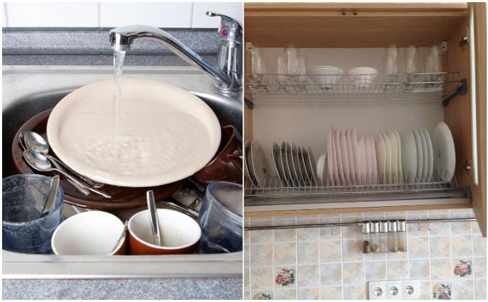 Мойте посуду сразу после трапезы