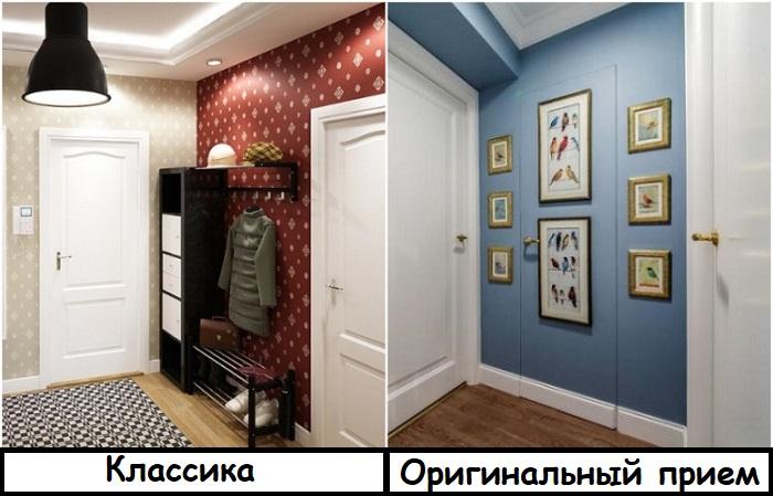 Чтобы двери не перегружали пространство, их можно маскировать