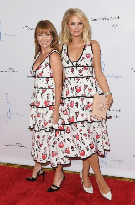 Джейн Сеймур и Пэрис Хилтон на модном ланче Oscar de la Renta. / Фото: stylebistro.com