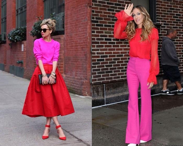 Сочетание красного и розового было вульгарным. / Фото: superladies.ru