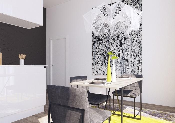 В белой кухне должны быть акценты. / Фото: remontt.net