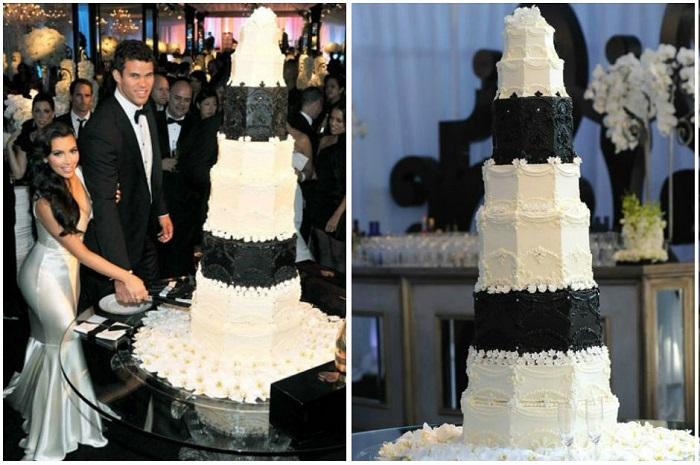 Свадебный торт Ким Кардашьян за 20 000 $. / Фото: svadbagolik.ru