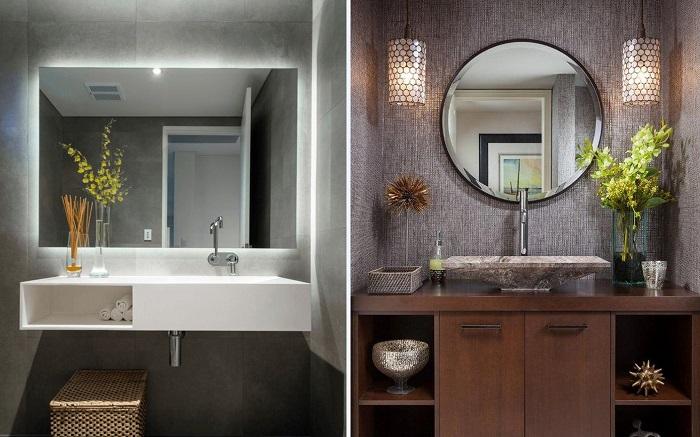 Зеркала могут быть разных форм и размеров. / Фото: travel-dom.ru