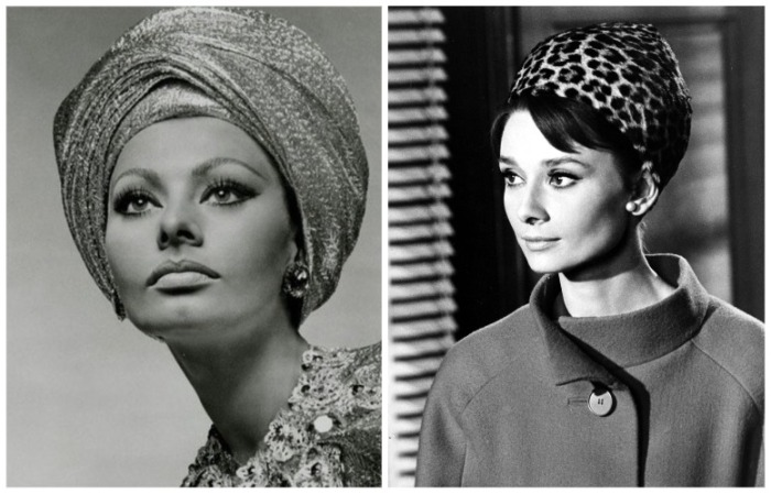 Тюрбаны носили модели и актрисы