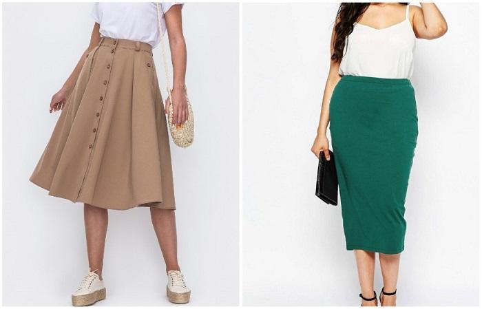 Полным девушкам подойдет юбка, расширяющаяся к низу или классический карандаш