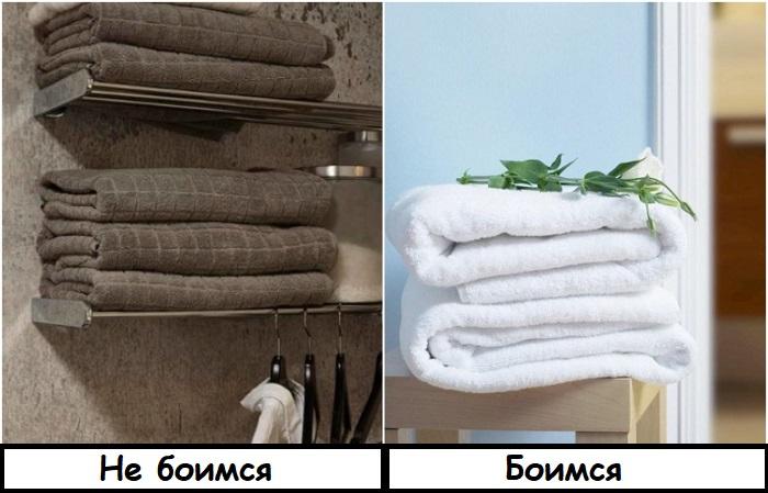 Скандинавы любят белые полотенца, а мы их опасаемся