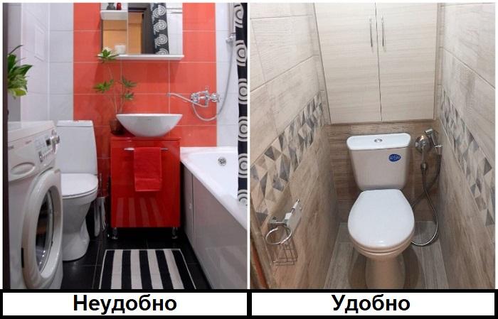 Раздельный санузел намного удобнее. / Фото: interra-forum.ru