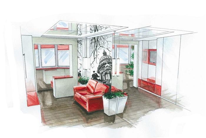 Стоимость дизайн-проекта зависит от площади квартиры. / Фото: vashinterier.ua