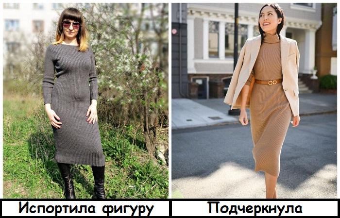 Тонкое трикотажное платье лучше дополнить жакетом