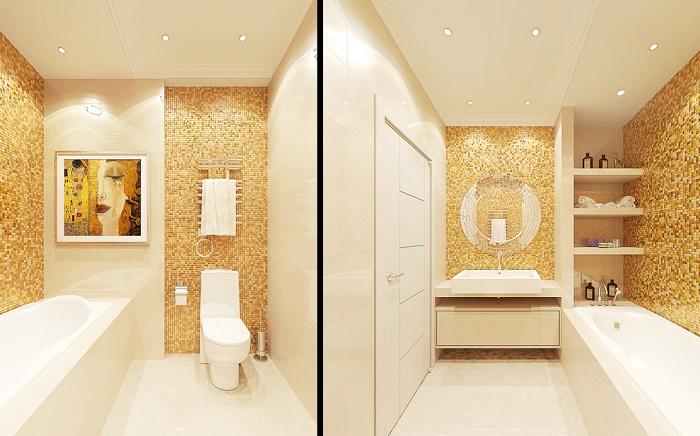 Золотой цвет добавляет интерьеру роскоши и шика. / Фото: vivbo.ru