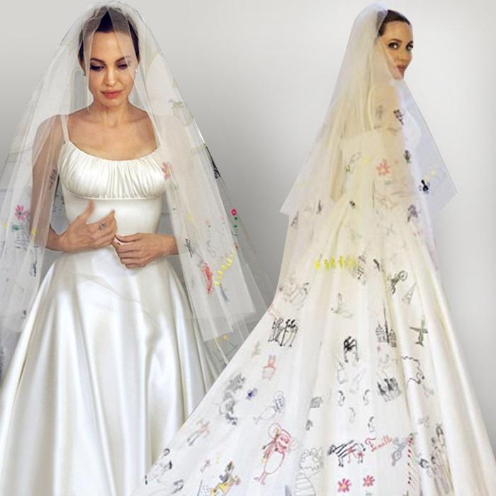 Анджелина Джоли в платье от Луиджи Масии. / Фото: vogue.ua