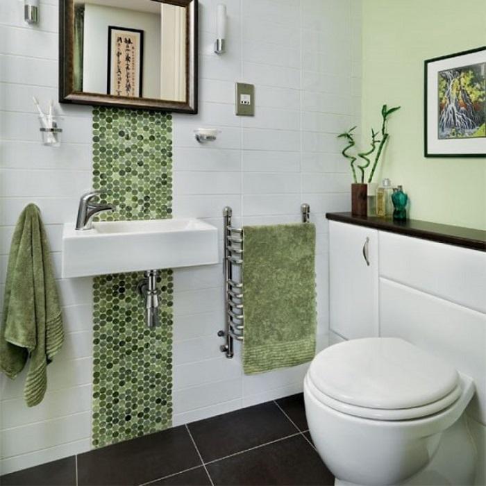 Мозаикой можно украсить не всю стену, а лише ее часть. / Фото: voskopoja.com
