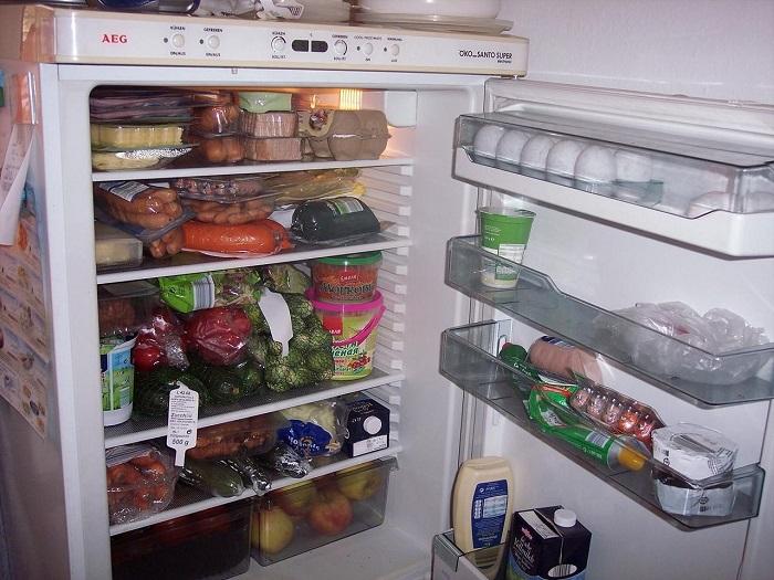 Холодильник, забитый продуктами, хуже морозит. / Фото: fishki.net